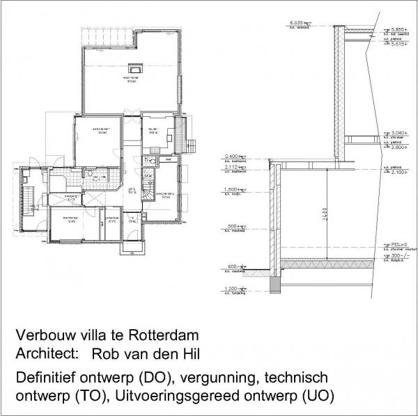 Verbouw villa Offenbachlaan Rotterdam Hillegersberg