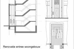 Verbouw entreeportaal woongebouw Vergiliusstraat Rotterdam